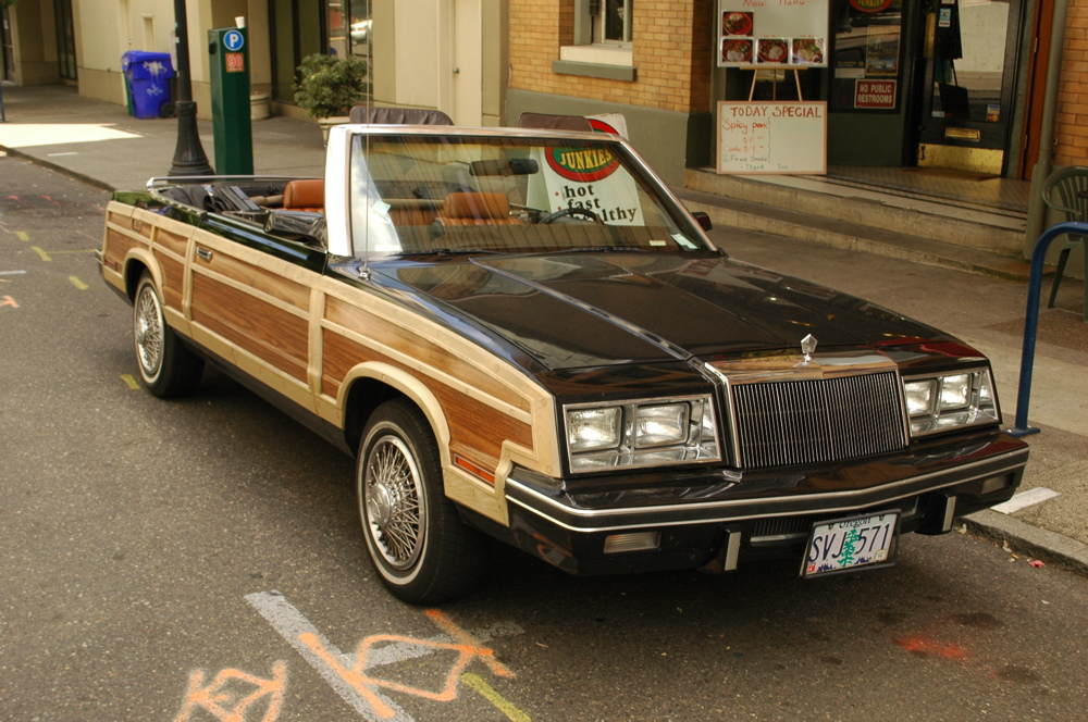 OLD PARKED CARS.: 1983 Chrysler Le Baron T&C Convertible, Mark ...