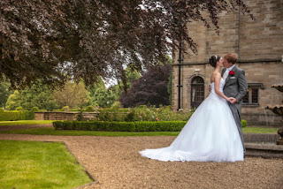 Kiss by the fountain at Gisborough Hall