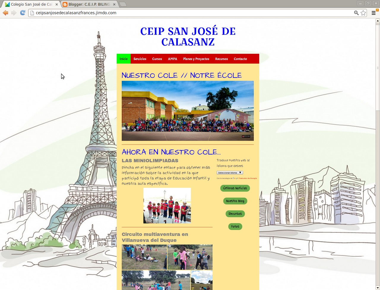 PÁGINA WEB DEL CENTRO