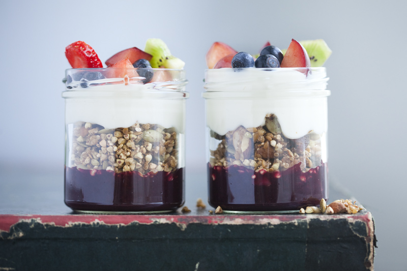... Granola with Yoghurt, Blueberry Sauce and Fresh Fruit - My New Roots