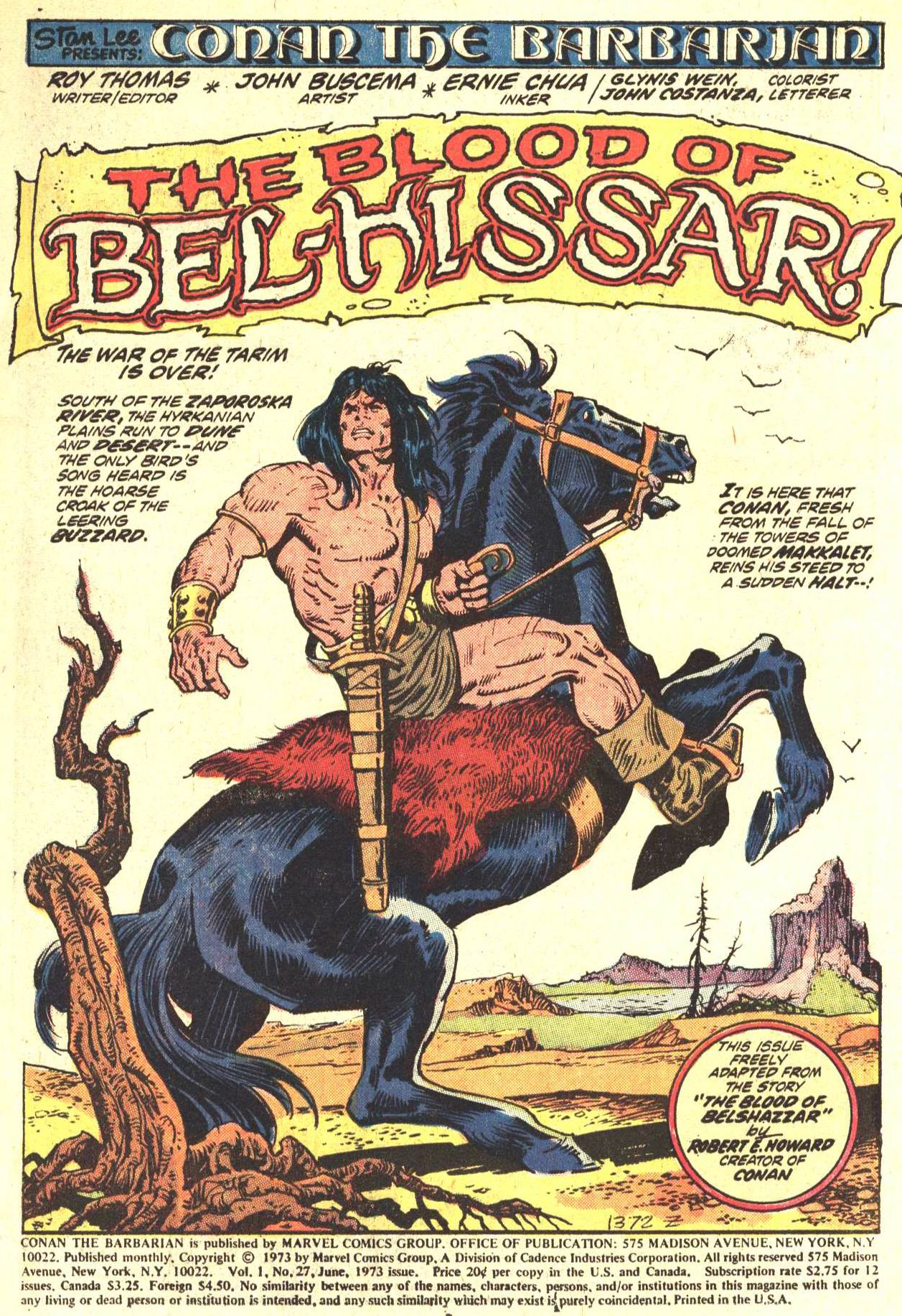 Conan the Barbarian (1970) Issue #27 #39 - English 2