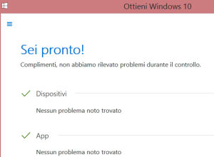 vedi se il pc è pronto per windows 10