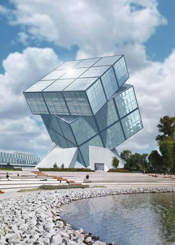 Hungarian ambiance huge rubik cube shaped museum will be for Structure in architecture the building of buildings
