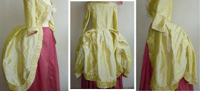 robe XVIII style Marie Antoinette par créateur à Versailles