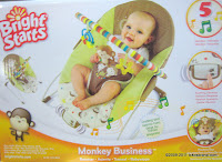 Bright Starts Monkey Business 5 Melodies Bouncer