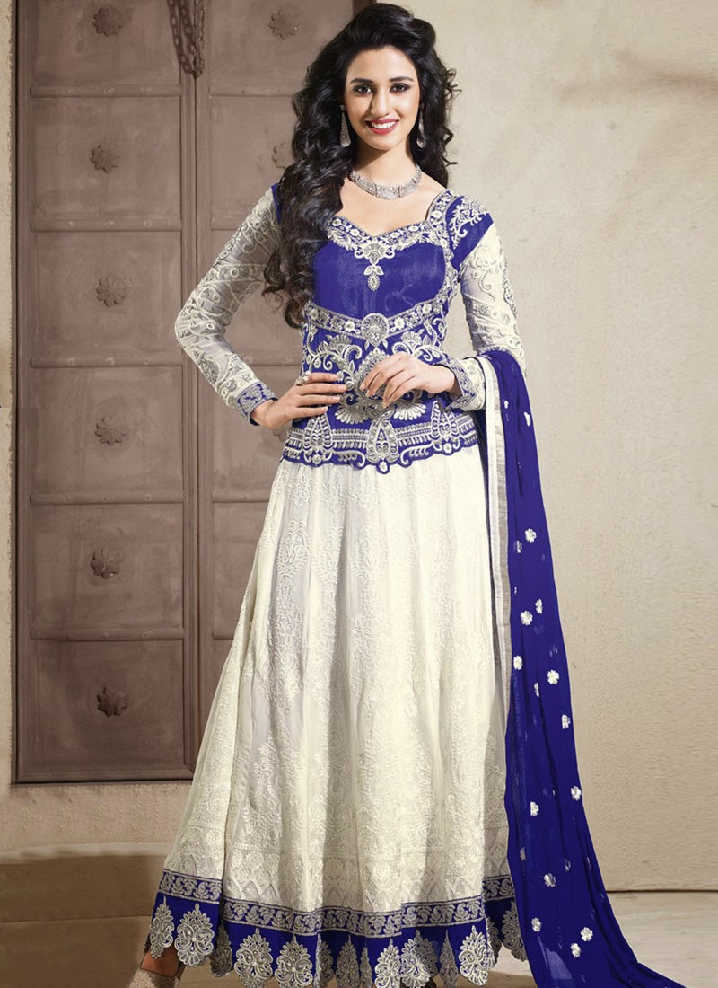 anarkali indian frocks pictures photos of white