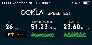 Vodafone 4G speedtest