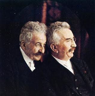 Auguste e Louis Lumière. 1914 circa.