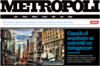 Interviewed by METROPOOLI. EL MUNDO