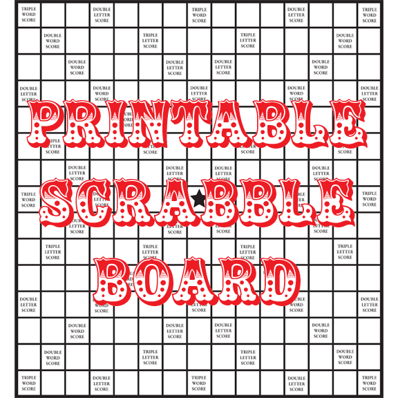 picture regarding Printable Scrabble Board identify Quirky Artist Loft: Do it yourself Printable Scrabble Board