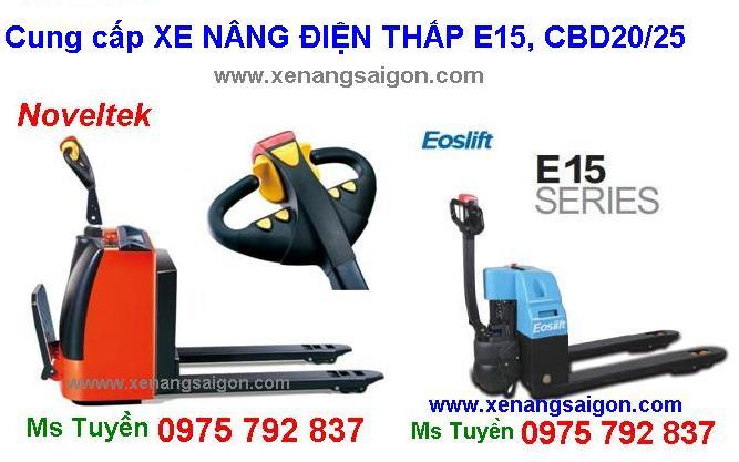 Bán Xe nâng điện thấp 1.5 tấn, 2 tấn, 2.5t (E15, CBD20/25), giá rẻ, mới 100