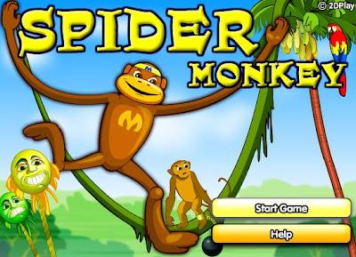 şempanze yavrusu uçan maymun oyunu oyna