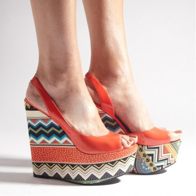 Cabo Red Tribal Aztec Wedges Louise Roe for Stylist Pick - iloveankara.blogspot.com