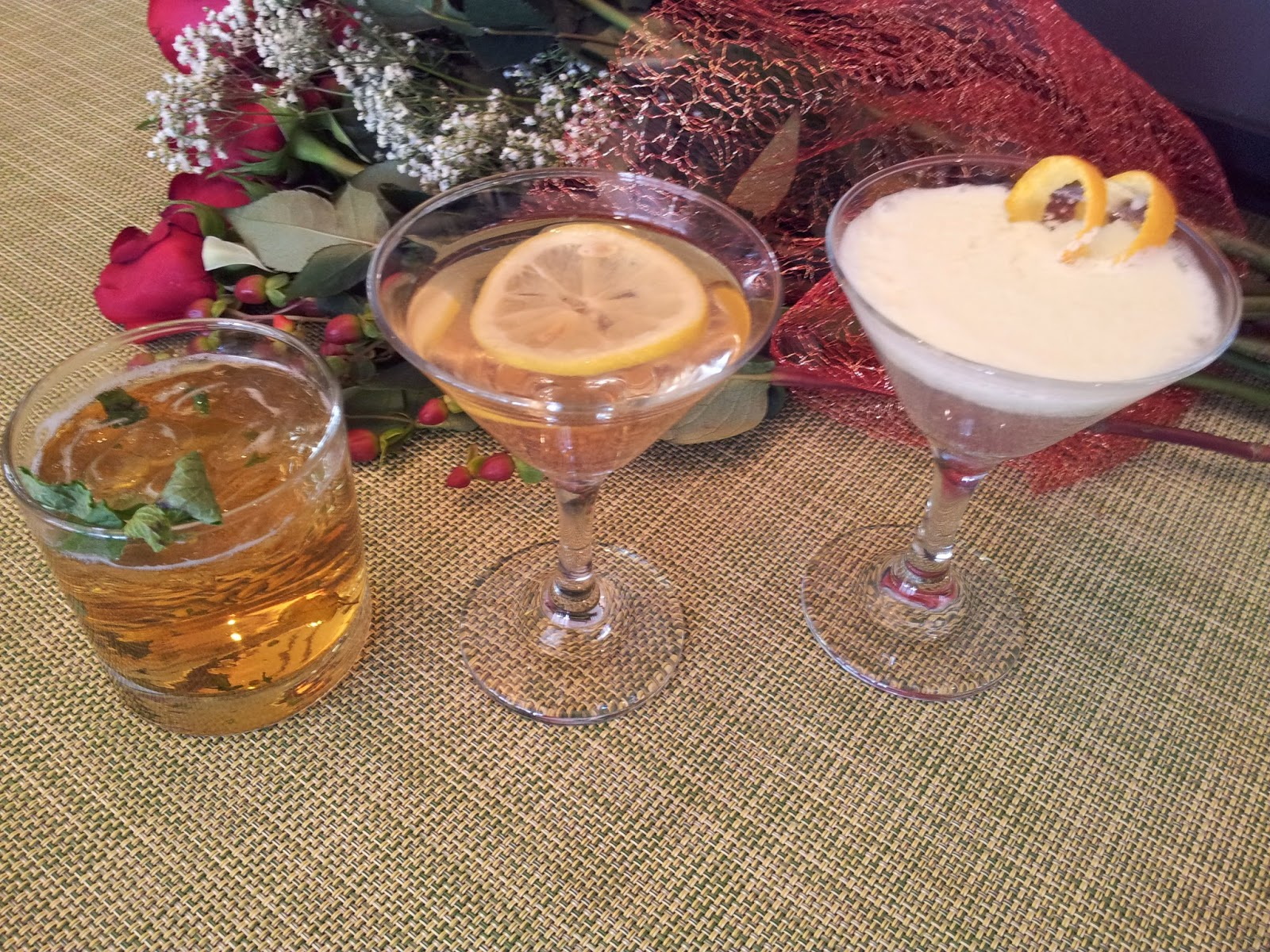 Recipe for Mint Julep, Black-Eyed Susan, White Carnation