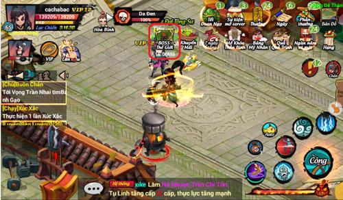 Hướng dẫn tham gia phó bản Boss Thế Giới trong game Lãng Khách