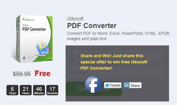 أحصل على نسخة قانونية من برنامج PDF Converter بقيمة $59 مجانا