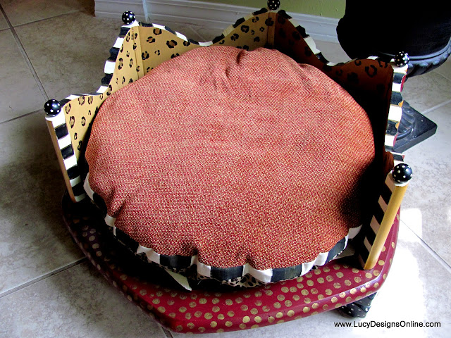 animal print dog bed