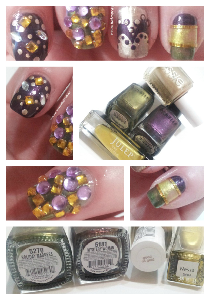 Mardi Gras Nail Art: NOTD - Hairspray and Highheels