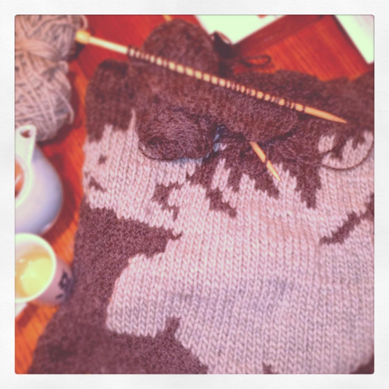 Moose Knitting Pattern : Knitting: Moose Sweater