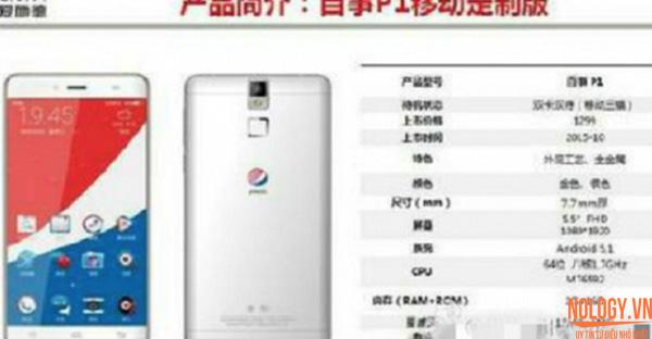 Pepsi ra mắt điện thoại thông minh tại Trung Quốc