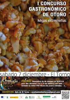I Concurso Gastronómico de Otoño (OTOÑADA 2013)