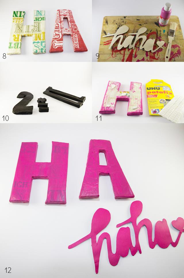 DIY 3D Buchstaben Papier