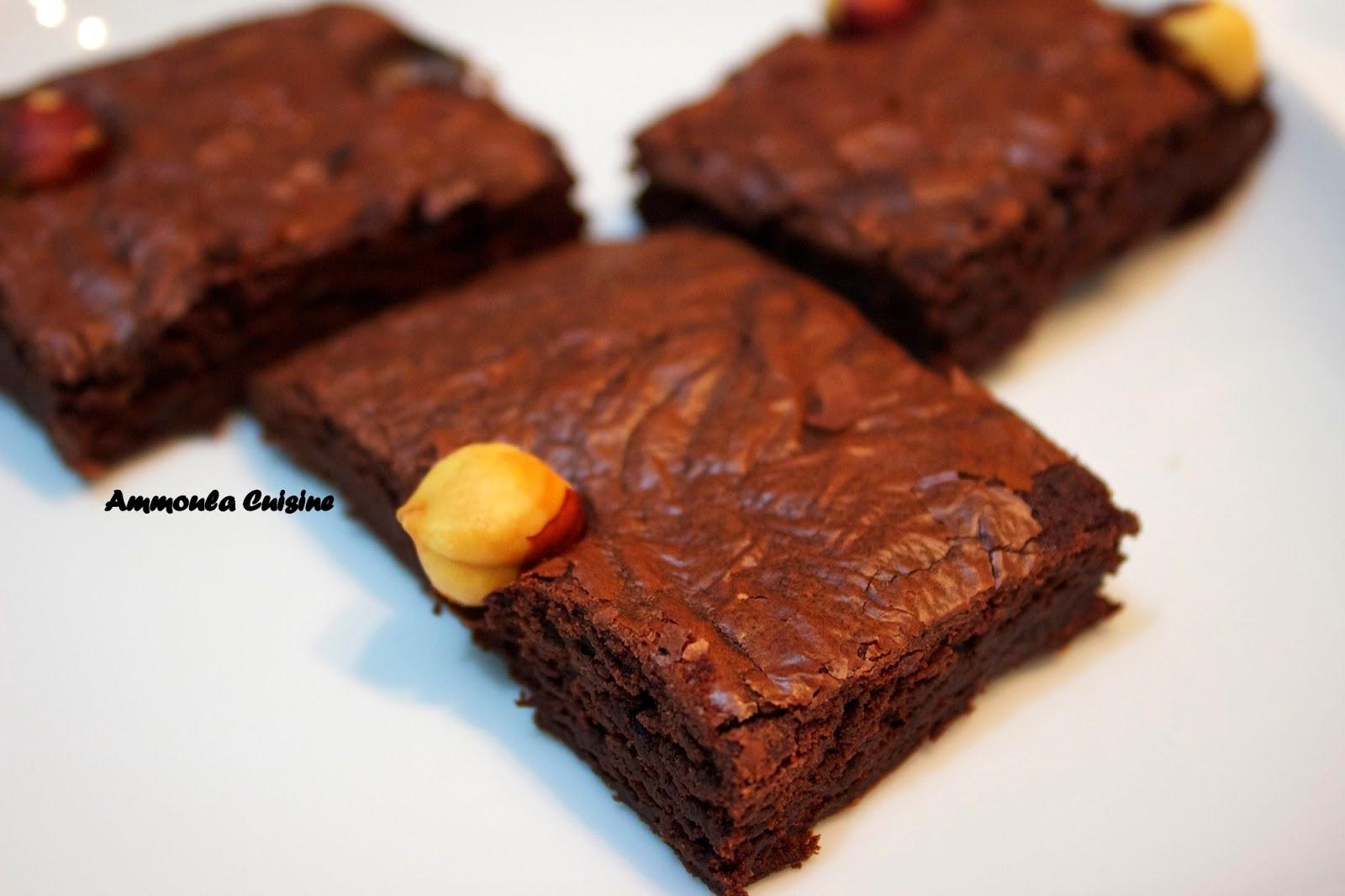 brownies au nutella sans beurre quand amal cuisine. Black Bedroom Furniture Sets. Home Design Ideas