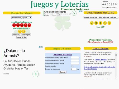Pruebe su suerte en las loterías