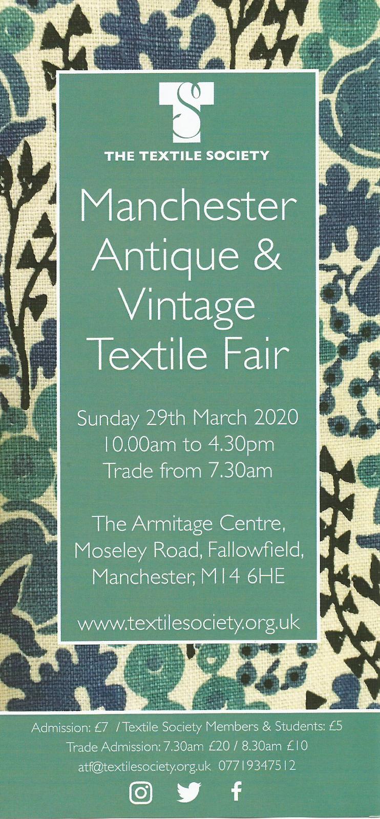 Manchester Antique and Vintage Textile Fair