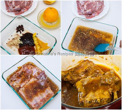 炆 BBQ 排骨製作圖 Slow Cooked BBQ Pork Ribs Procedures