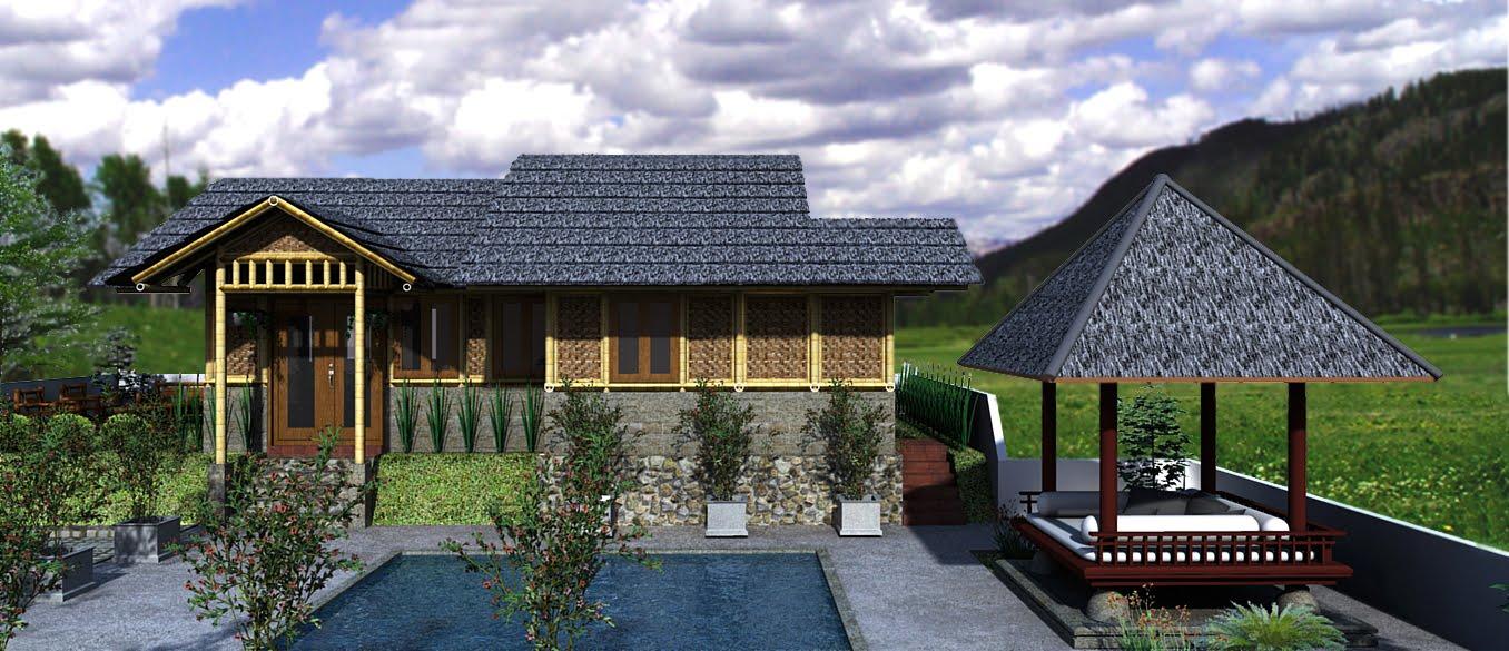 & Desain Rumah Bambu Terbaru 2012