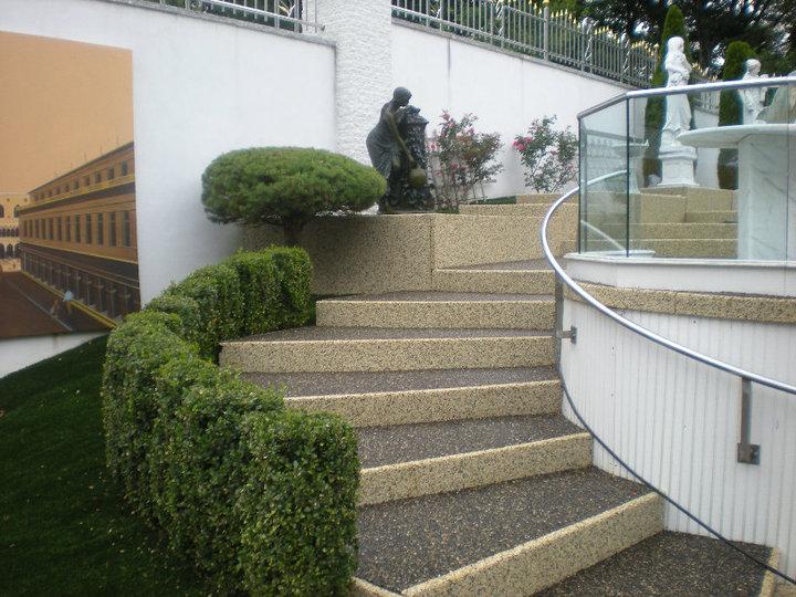 Rustic terrazzo coatings resurfacing overlays specialty - Resurfacing exterior concrete stairs ...