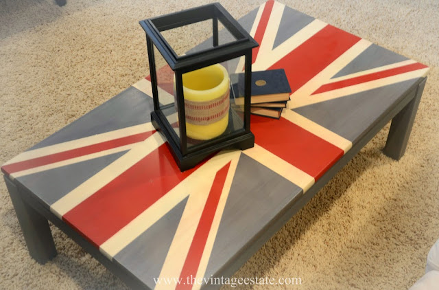 union jack painted coffee table makeover