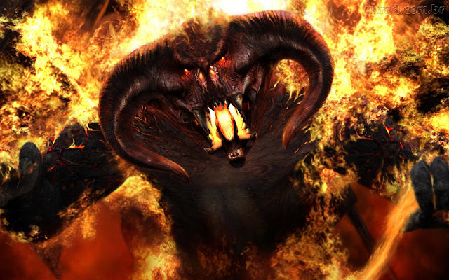 Besta do apocalipse, beast , balrog, demonio, satanas, dragao de fogo