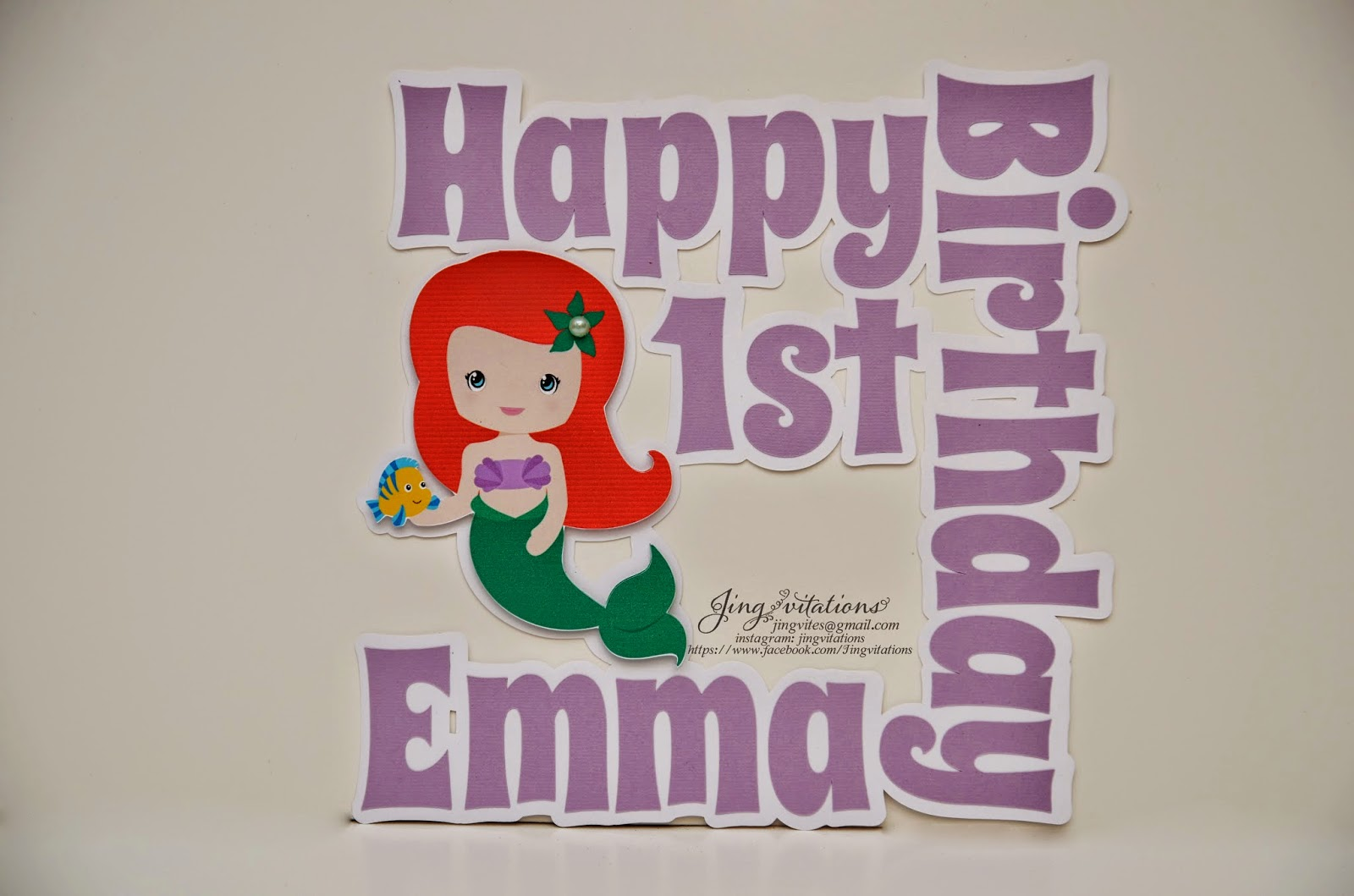 little mermaid cupcake topper