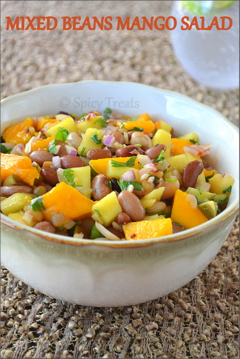 Spicy Treats: Mixed Beans Mango Salad / 15 Beans Mango Salad