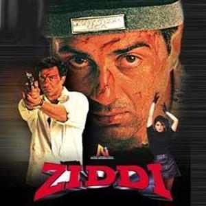 Poster Of Bollywood Movie Ziddi (1997) 300MB Compressed Small Size Pc Movie Free Download worldfree4u.com