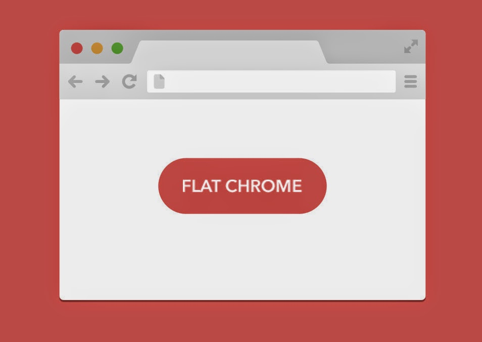 Flat Chrome PSD Template