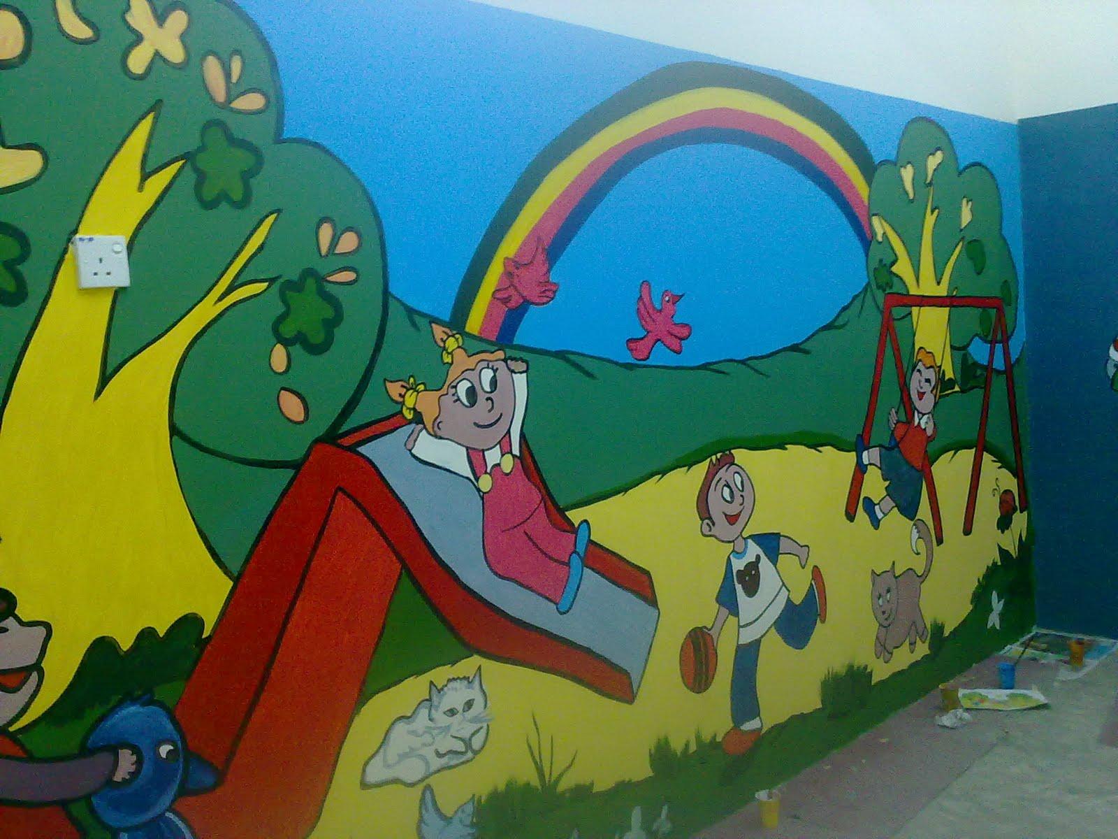 Perkhidmatan melukis mural for Contoh lukisan mural tadika