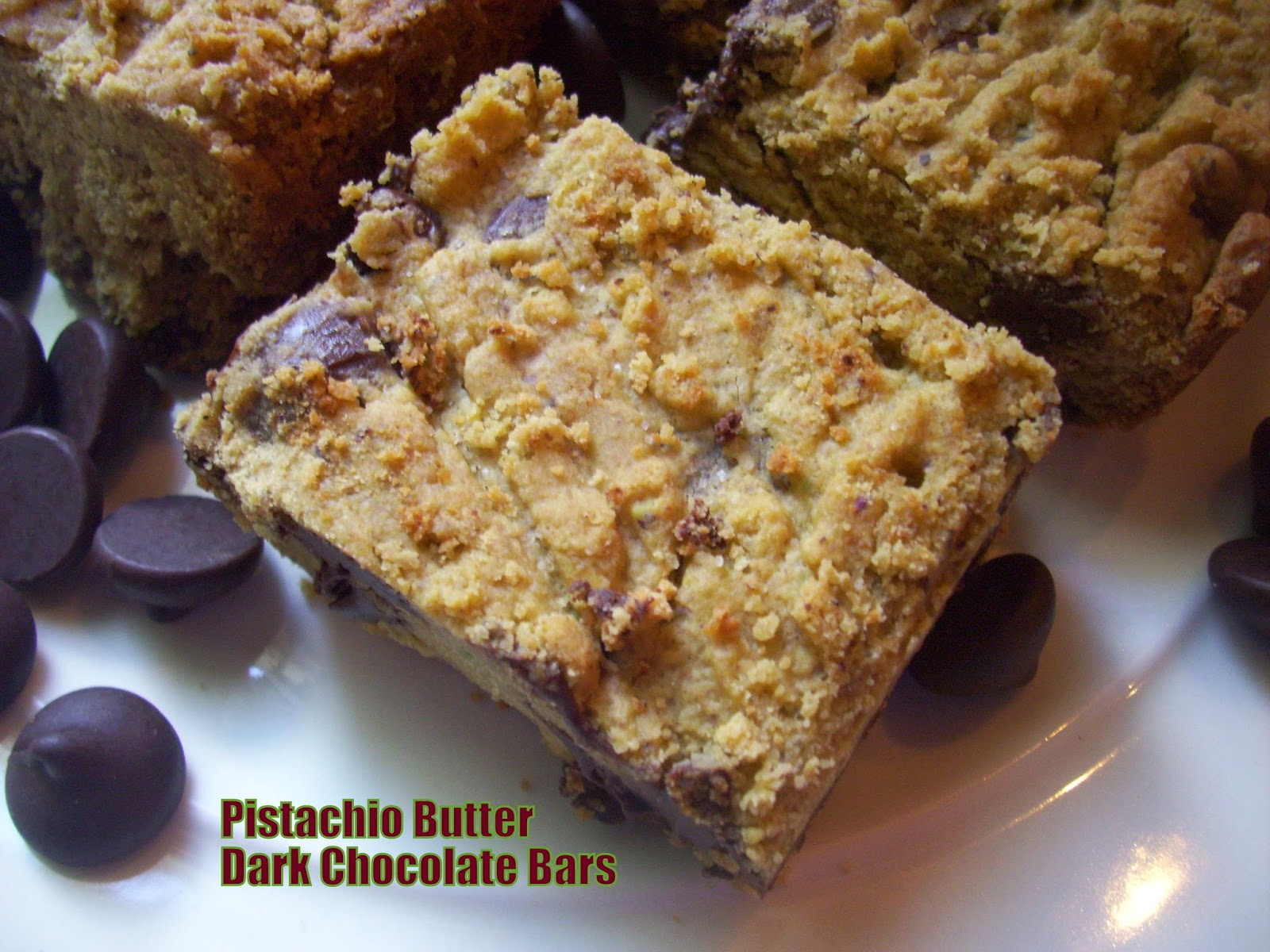 pistachio butter dark chocolate bars