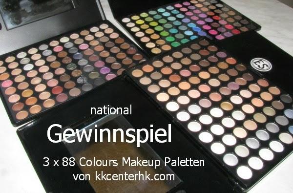 Gewinnspiel: 3 x 88 Colours Makeup Paletten - 3 Gewinner