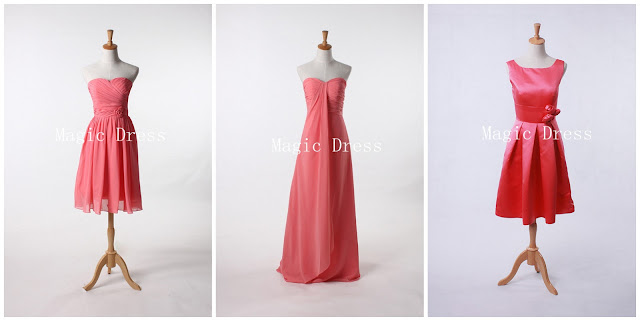 2013 pink summer bridesmaid dresses