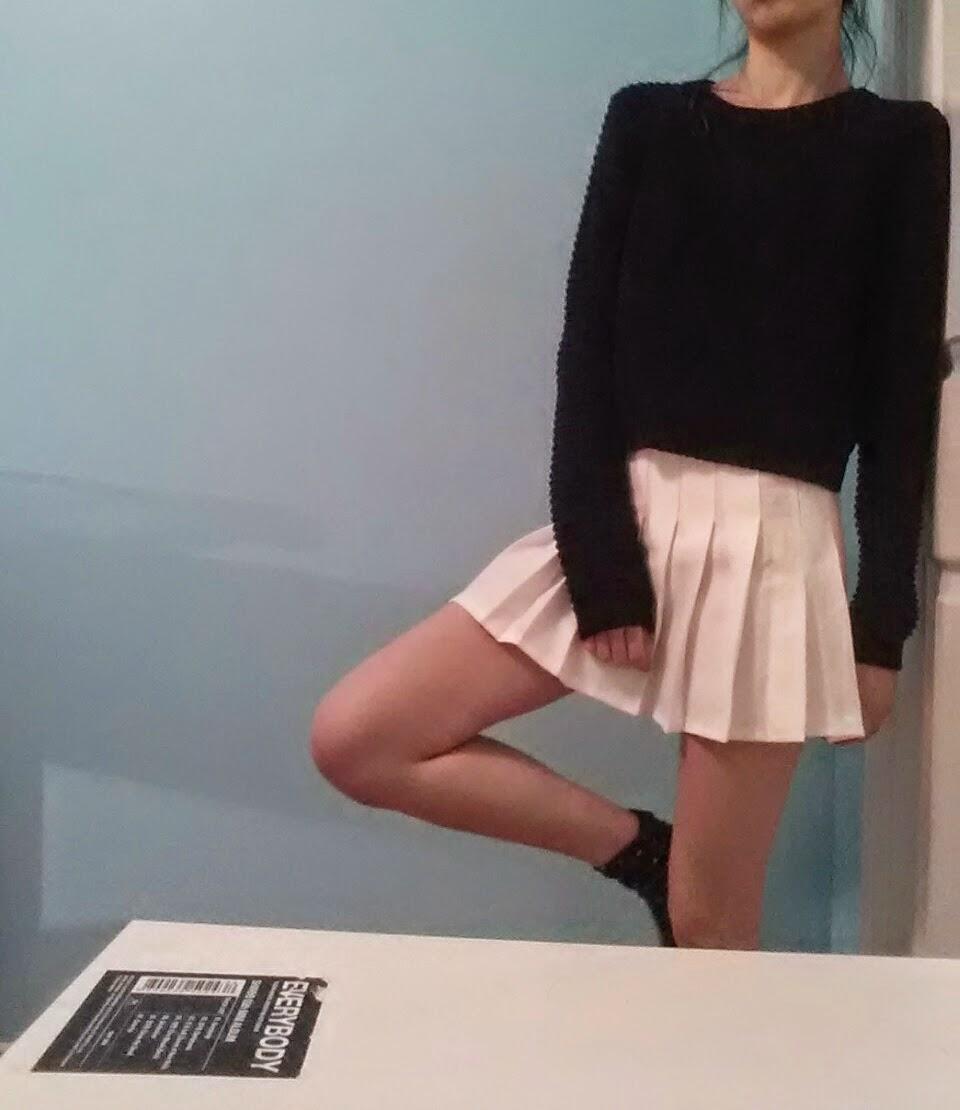 爱憎: review: white pleated tennis skirt