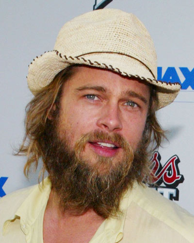 Brad Pitt Beard Braid Wallpapers