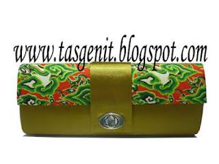 tas pesta batik clutch bag unik dompet mega mendung