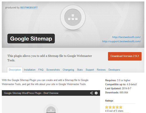 Plugin SEO WordPress Terbaik Google Sitemap