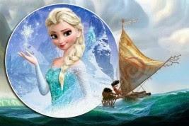 Gambar Moana vs Elsa Frozen Princess Film Disney Terbaru Putri Hawai Legenda Polinesia