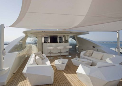 upper deck of darlings danama superyacht boat