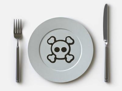 Calavera plato comida