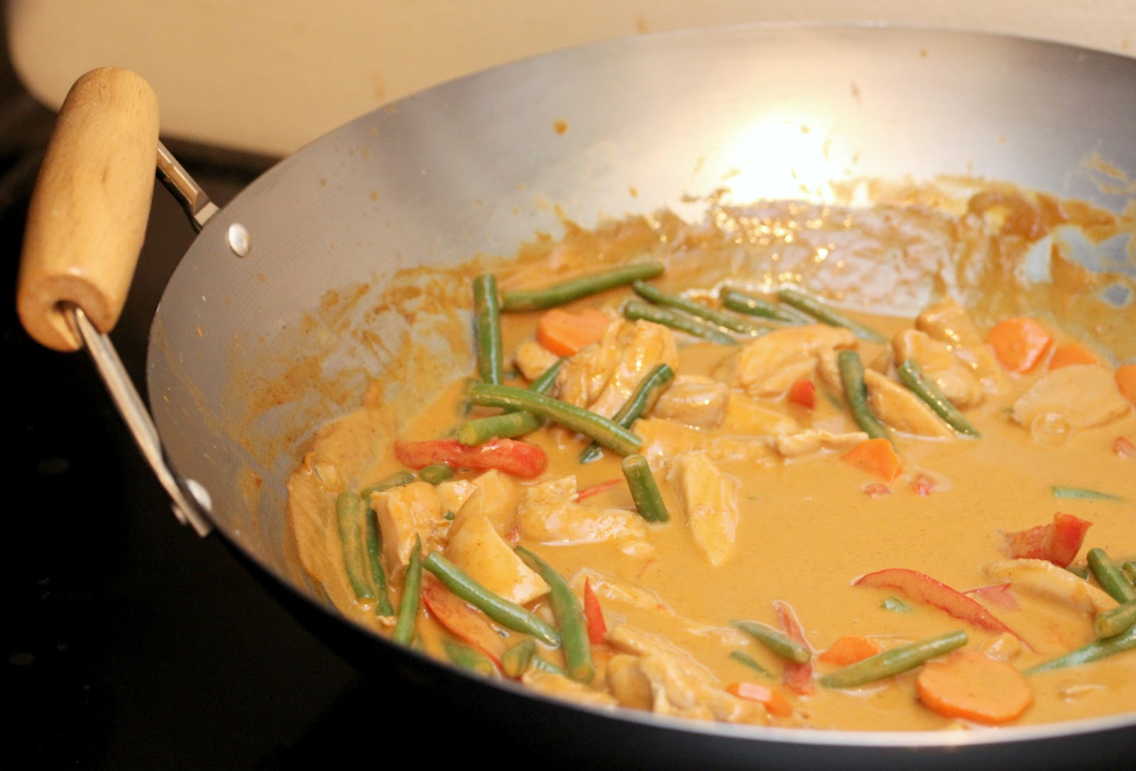 gingersnaps: panang chicken curry